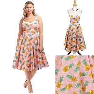 Collectif Nova Pineapple Swing Dress